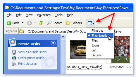 Enable Thumbnail Views on Windows XP