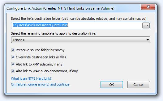 FPV Configure Link Action
