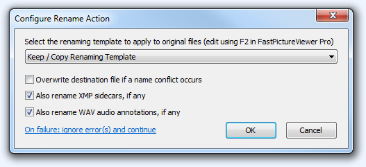 FPV Configure Rename Action
