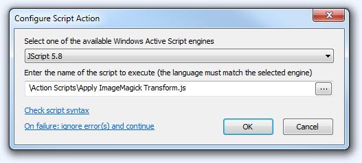 FPV Configure Script Action