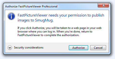 FPV Publisher (SmugMug OAuth Step1)