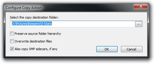 Copy Action Editor