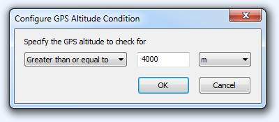 FPV Configure GPS Altitude Condition