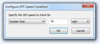 FPV Configure GPS Speed Condition