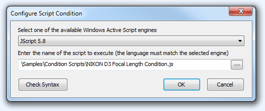 FPV Configure Script Condition