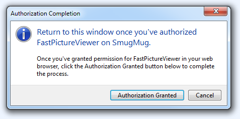 FPV Publisher (SmugMug OAuth Step4)