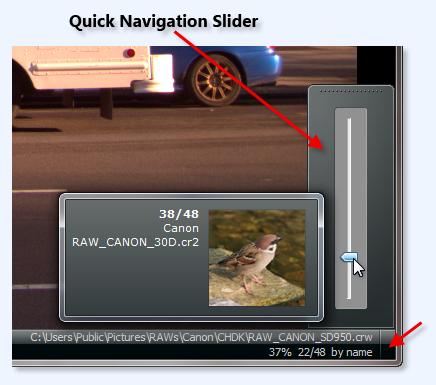 Quick Navigation Slider